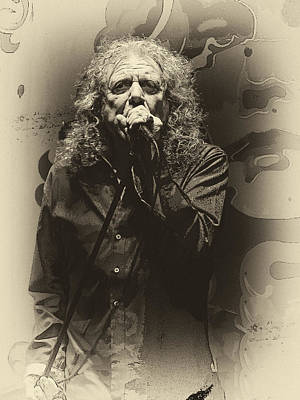 Robert Plant Digital Art - Robert Plant by Michael  Wolf