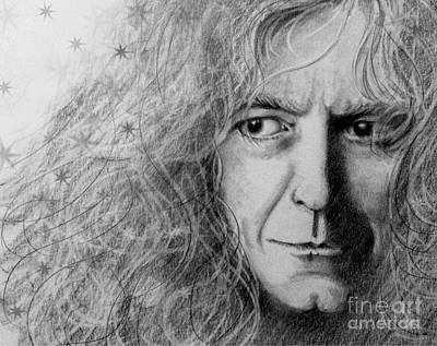 Jimmy Page Drawing - Robert Plant by Patrice Torrillo