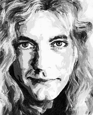 Robert Plant Mixed Media - Robert Plant - Still The Best by Tanya Filichkin