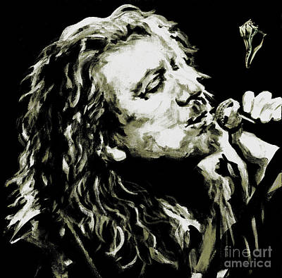 Robert Plant Mixed Media - Robert Plant. The Lullaby And The Ceaseless Roar by Tanya Filichkin