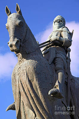 Bronze Horse Photograph - Robert The Bruce King Of Scots  by Craig B