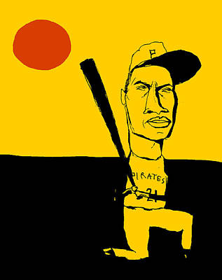 Roberto Clemente Pittsburgh Pirates Print by Jay Perkins