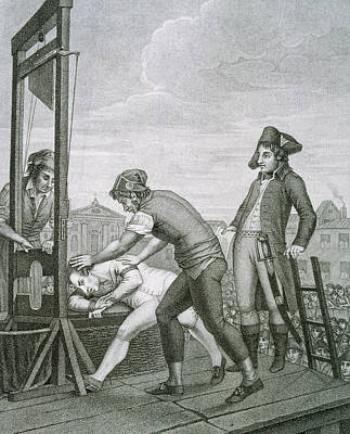 Robespierre 1758-1794 Dies On The Guillotine Print by Bridgeman Images