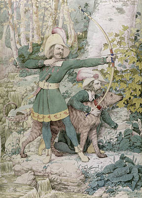 Aiming Painting - Robin Hood by Richard Dadd