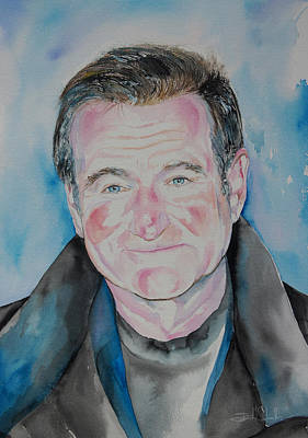 Robin Williams Print by Isabel Salvador