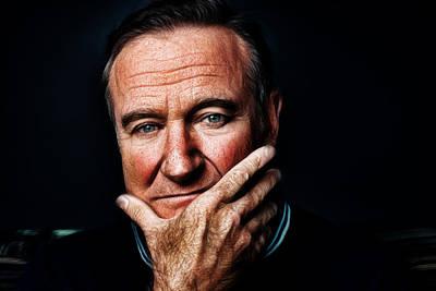 Robin Williams Print by Riccardo Zullian