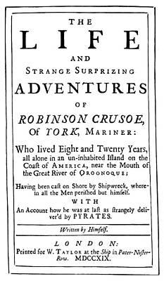 Novel Painting - Robinson Crusoe By Daniel Defoe Title by Granger