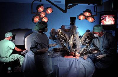 Endoscopy Photograph - Robotic Heart Surgery by Pascal Goetgheluck