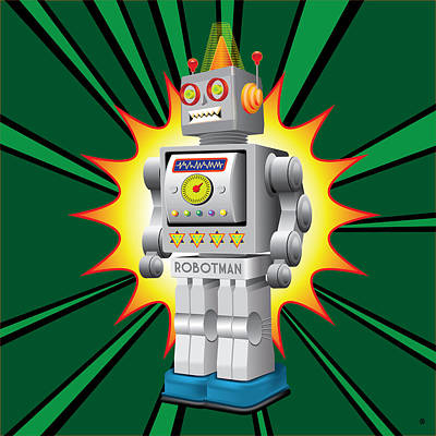 Robotman Print by Gary Grayson