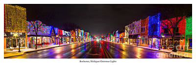 Rochester Christmas Lights Print by Twenty Two North Photography