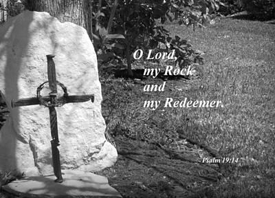 Rock And Redeemer Print by Ella Kaye Dickey
