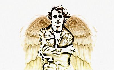 Rock Angels Digital Art - Rock And Roll Angel  John Lennon by Bill Cannon