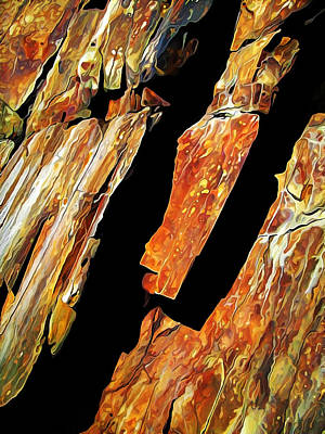 Manipulation Photograph - Rock Art 21 by Bill Caldwell -        ABeautifulSky Photography