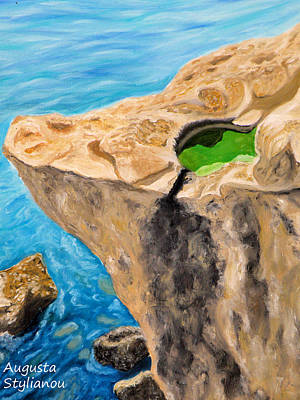 Cyprus beach paintings for sale for Landscaping rocks augusta ga
