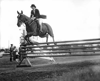 Rock Creek Hunt Club Jumps Print by Underwood Archives