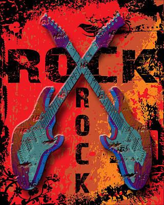 Rocking Digital Art - Rock by David G Paul