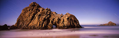 Rock Formation On The Beach, One Hour Print by Panoramic Images