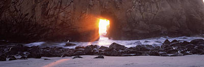 Of Big Sur Beach Photograph - Rock Formation On The Beach, Pfeiffer by Panoramic Images