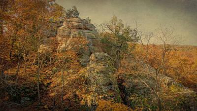 Rock Formation Print by Sandy Keeton