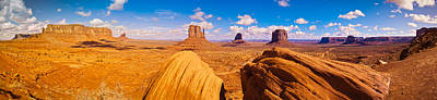Hilltop Scenes Photograph - Rock Formations At Monument Valley by Panoramic Images