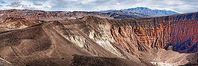 Rock Formations At Volcanic Crater Print by Panoramic Images