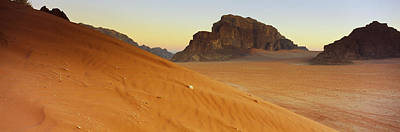 Qatar Photograph - Rock Formations In A Desert, Jebel by Panoramic Images