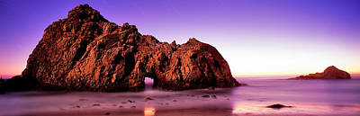 Rock Formations On The Beach, Pfeiffer Print by Panoramic Images