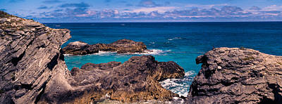 Bermuda Photograph - Rock Formations On The Coast, Bermuda by Panoramic Images