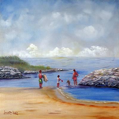 Rock Hall Beach Original by Loretta Luglio