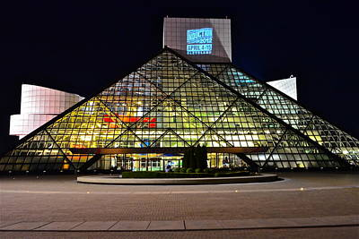 Rock N Roll Hall Of Fame Induction Print by Frozen in Time Fine Art Photography