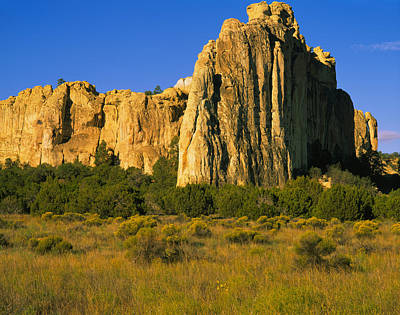 El Morro Photograph - Rock On A Landscape, Inscription Rock by Panoramic Images