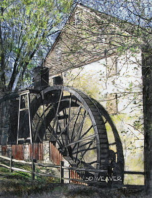 Rock Run Mill Print by Sid Weaver