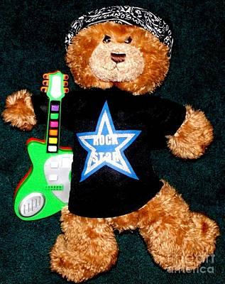 Rock Star Teddy Bear Print by Gail Matthews