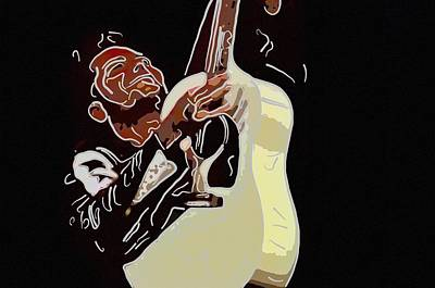 Rockabilly Electric Guitar Player  Original by Toppart Sweden