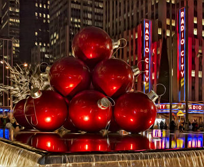 Nyc Digital Art - Rockefeller Center Cheer by Susan Candelario