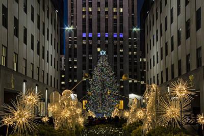 Angels Trumpet Photograph - Rockefeller Center Christmas Tree by Susan Candelario