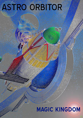 Astros Digital Art - Rocket Ship To Fun by David Lee Thompson