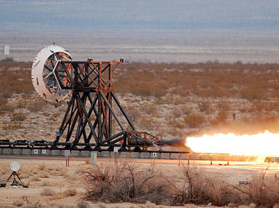 Inflatable Photograph - Rocket-sled Test by Nasa