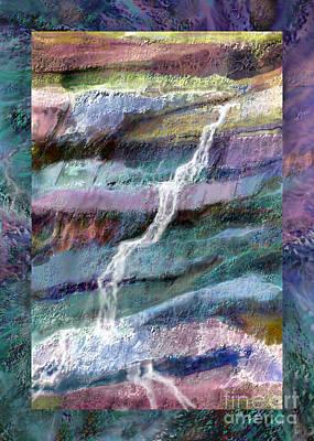 Wall Mounting Digital Art - Rockface by Ursula Freer
