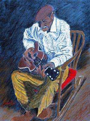 Rocking Chairs Pastel - Rockin Chair Blues by Charlie Black