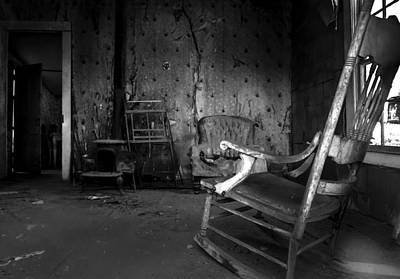Haunted House Photograph - Rocking Chair by Cat Connor