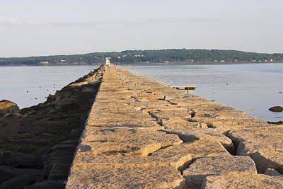 Rockland Breakwater Lighthouse Coast Of Maine Print by Keith Webber Jr