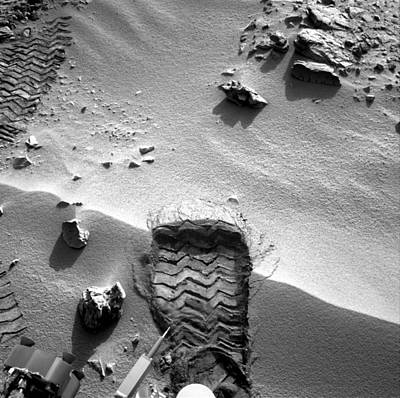 Rocknest Site, Mars, Curiosity Image Print by Science Photo Library