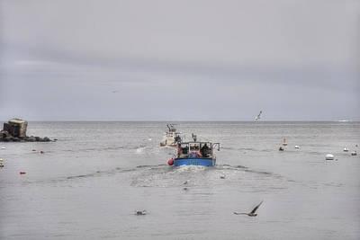 Buoys Photograph - Rockport Fishing Boats by Joann Vitali