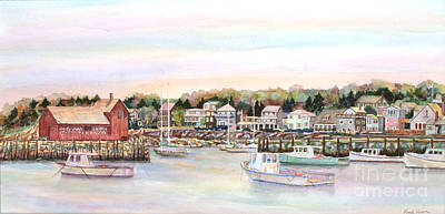 Rockport Harbor Ma Print by Pamela Parsons