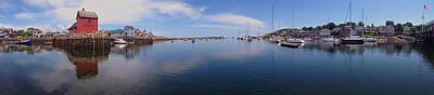 Buoys Photograph - Rockport Harbor Panoramic by Joann Vitali