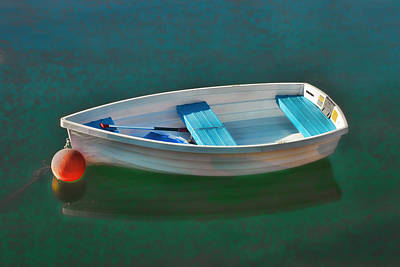 Rockport Row Boat Print by Joann Vitali