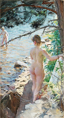 Zorn Painting - Rocks At Dalaro II by Anders Zorn