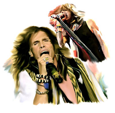 Rock And Roll Drawing - Rocks Gothic Lion II  Steven Tyler by Iconic Images Art Gallery David Pucciarelli