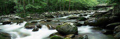 Rocks In A River, Little Pigeon River Print by Panoramic Images